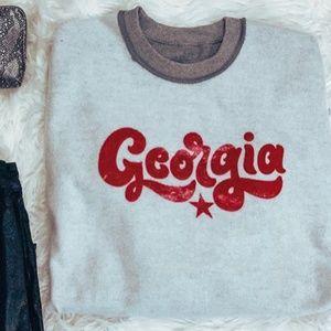 Sweaters - Georgia Vintage Crewneck Sweatshirt